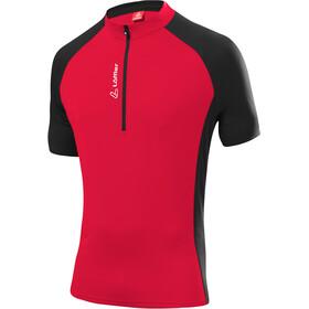 Löffler Rocky Koszulka kolarska, krótki rękaw Mężczyźni czerwony/czarny
